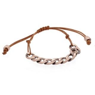 NEXTE Jewelry Rose Goldtone Cuban Chain Bracelet