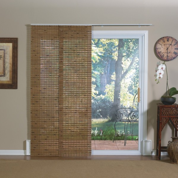 Shop Radiance Pecan Bamboo Windows And Patio Doors Track Panels