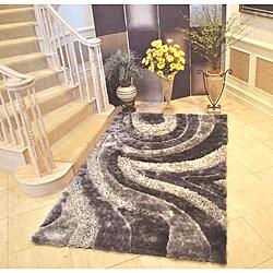 EverRouge 3D Grey Area Rug (8' x 10')