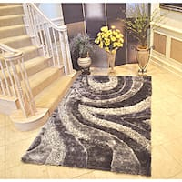 EverRouge 3D Grey Area Rug - 8' x 10'