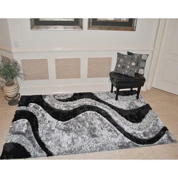 EverRouge 3D Black Area Rug (8' x 10')