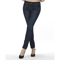 MDZ Women's 'Marissa' Medium Blue Skinny Jeans