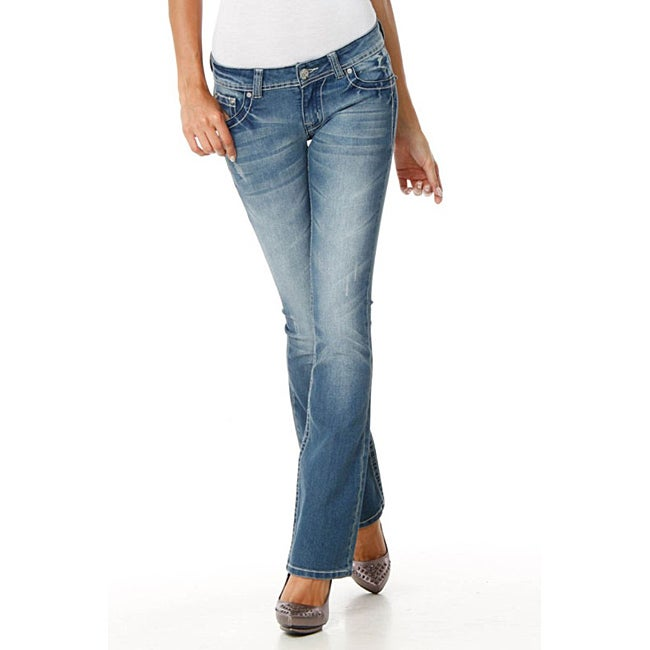 MDZ Women's 'Kloe Light Wash' Bootcut Jeans