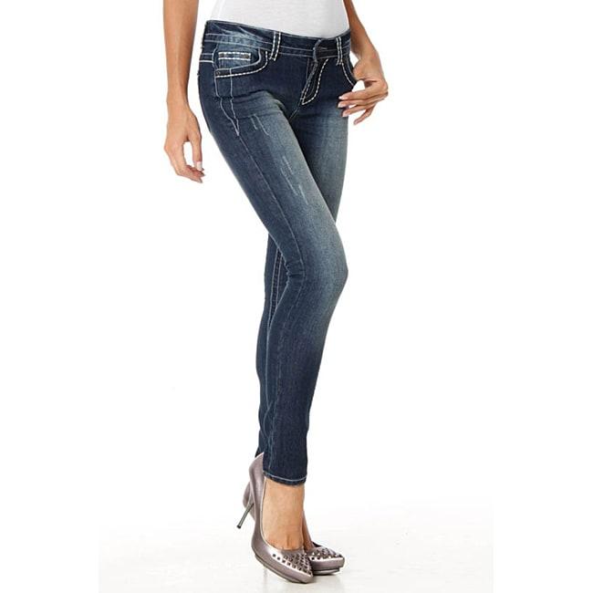 MDZ Women's 'Stella' Dark Wash Skinny Jeans