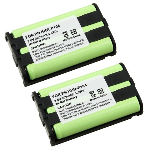 INSTEN Cordless Phone Ni-MH Battery for Panasonic HHR-P104 (Pack of 2)