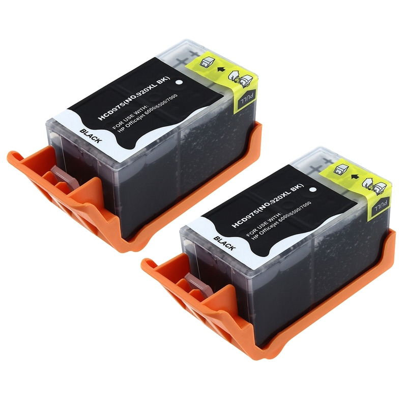 INSTEN HP Compatible 920XL/ 6500 Black Ink Cartridge (Pack of 2)
