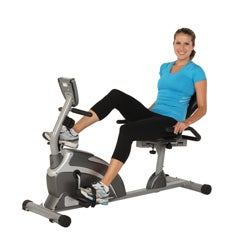 Exerpeutic 1000 High Capacity Magnetic Recumbent Bike - Black