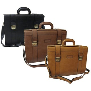 Amerileather Ambassador Executive Leatherette Briefcase (Option: TAN)