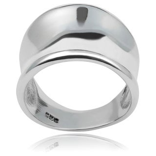 Journee Collection Concave Statement Ring