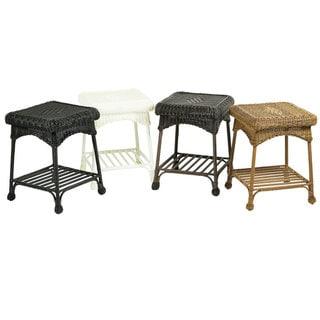 Outdoor Wicker Patio End Table