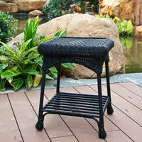 Clay Alder Home Carquinez Outdoor Wicker Patio End Table