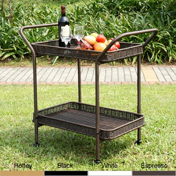 Wicker Patio Serving Cart - Free Shipping Today - Overstock.com - 13927022