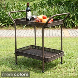 Havenside Home Pensacola Wicker Patio Serving Cart