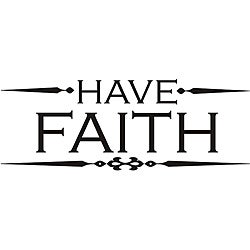 Design on Style 'Have Faith' Vinyl Wall Art Quote