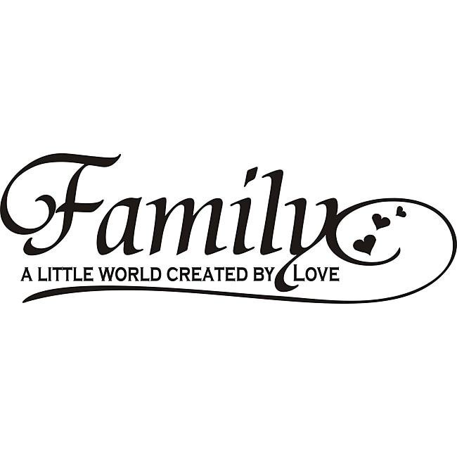 Love Quotes Vinyl Wall Art : Design on style family a little world created by love