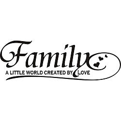 Design on Style 'Family: A Little World Created by Love' Vinyl Wall Art Quote
