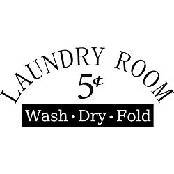 Design on Style 'Laundry Room 5-cent Wash Dry Fold' Vinyl Art Quote