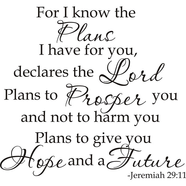 Design On Style Jeremiah 2911 For I Know The Plans