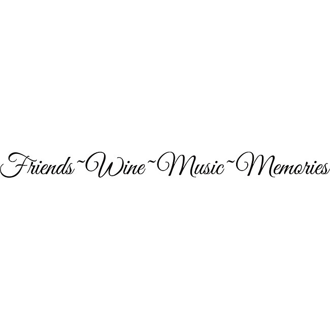 Design on Style 'Friends, Wine, Music, Memories' Vinyl Art Quote - Thumbnail 0