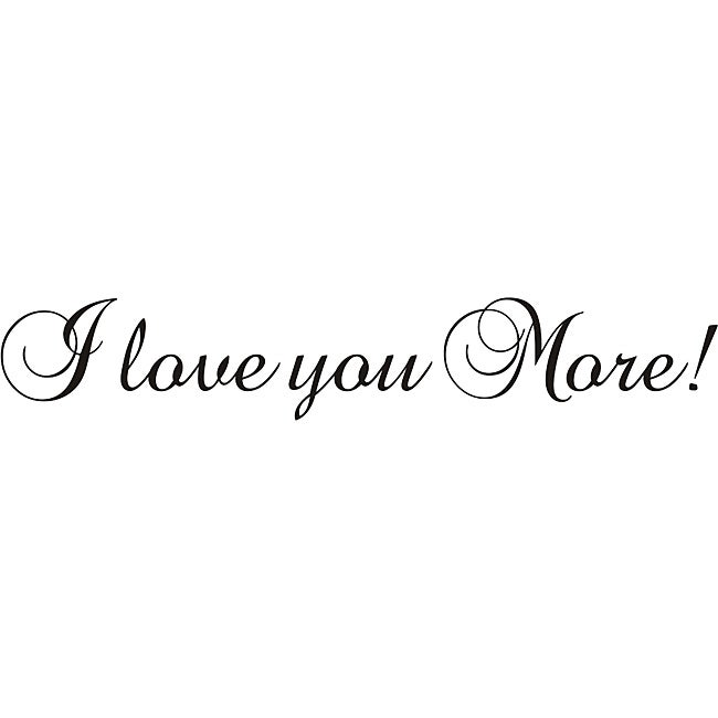 Shop Design on Style \'I Love You More\' Vinyl Wall Art Quote - Free ...