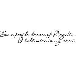 Design on Style 'Some People Dream of Angels' Vinyl Wall Art Quote