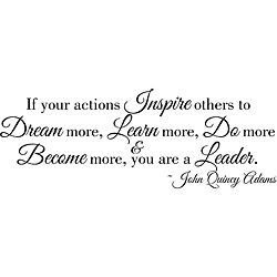Design on Style 'If Your Actions Inspire Others' Vinyl Wall Art Quote
