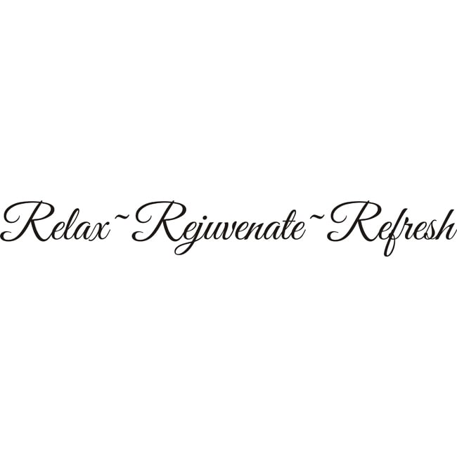 Design On Style RelaxRejuvenateRefresh Vinyl Wall Decal Quote - Wall decals relax