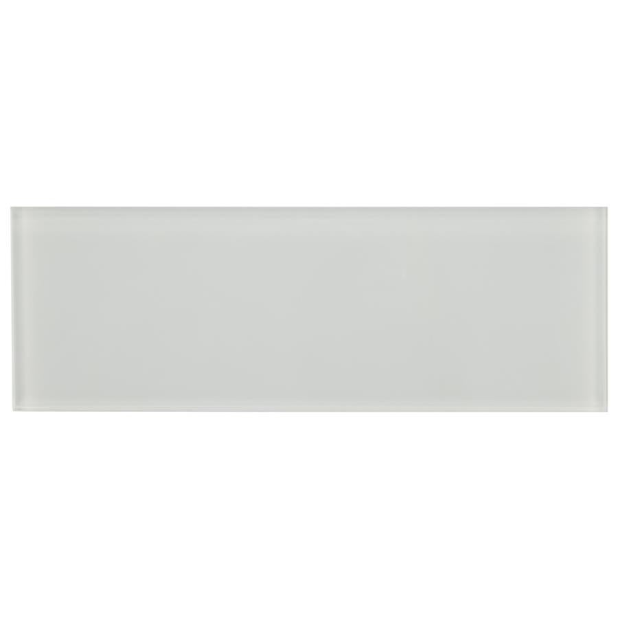 Somertile 4x12 Inch Reflections Grand Subway Ice White Gl
