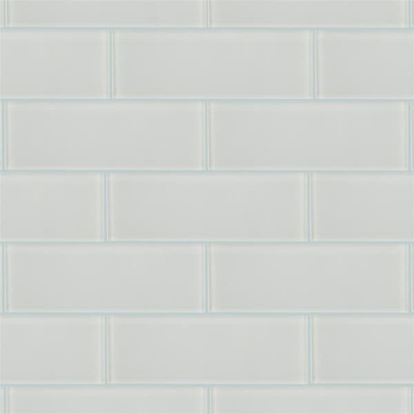Somertile 4x12 Inch Reflections Grand Subway Ice White Glass Wall Tile 30 Tiles 10 Sqft Overstock 6296236