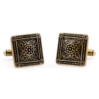 Cuff Daddy Bronzeplated Victorian Square Cuff Links