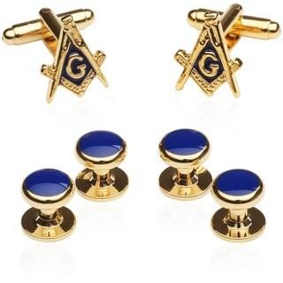 Cuff Daddy Goldplated Masonic Formal Cuff Link Set