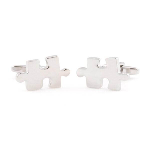 Cuff Daddy Silvertone 'Jigsaw Puzzle' Cufflinks