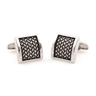 Cuff Daddy Silvertone SOHO Tactile Cuff Links