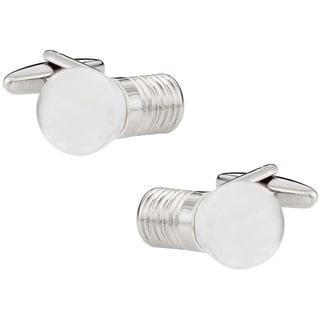 Cuff Daddy Silvertone Lightbulb Cuff Links