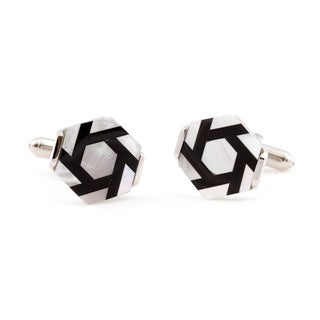 Cuff Daddy Mother of Pearl and Onyx Motion Cuff Links