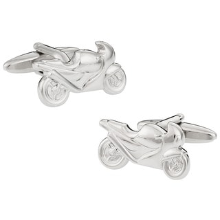 Cuff Daddy Silvertone Sport Bike Cuff Links