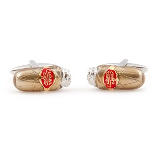 Cuff Daddy Two Tone Cigar Cufflinks 13927560 Overstock