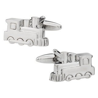 Cuff Daddy Silvertone Freight Train Cufflinks