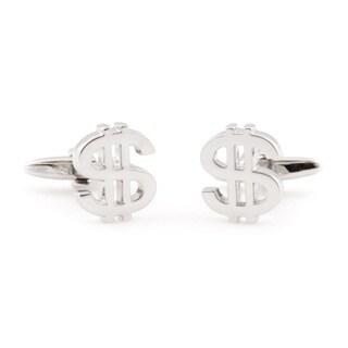 Cuff Daddy Silvertone 'Money Money Money' Cuff Links