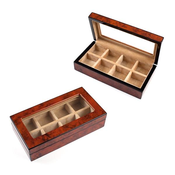 Wood Cufflinks Cuff Link Box  sc 1 st  Overstock & Wood Cufflinks Cuff Link Box - Free Shipping On Orders Over $45 ... Aboutintivar.Com