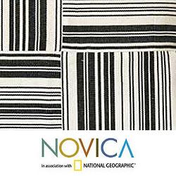 Set of Two Cotton 'Four Directions' Cushion Covers (Guatemala) - Thumbnail 2