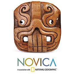 Cedar Wood 'Jaguar Riches' Mask (El Salvador)