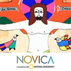 Handcrafted 'New Creation' Pinewood Cross (El Salvador) - Thumbnail 1