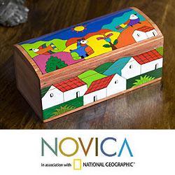 Handcrafted Pinewood 'My Village' Box (El Salvador)|https://ak1.ostkcdn.com/images/products/6296612/PCI/78/141/Handcrafted-Pinewood-My-Village-Box-El-Salvador-P78141377.jpg?_ostk_perf_=percv&impolicy=medium