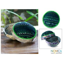 Recycled Paper 'San Lucas Jade' Box (Guatemala)