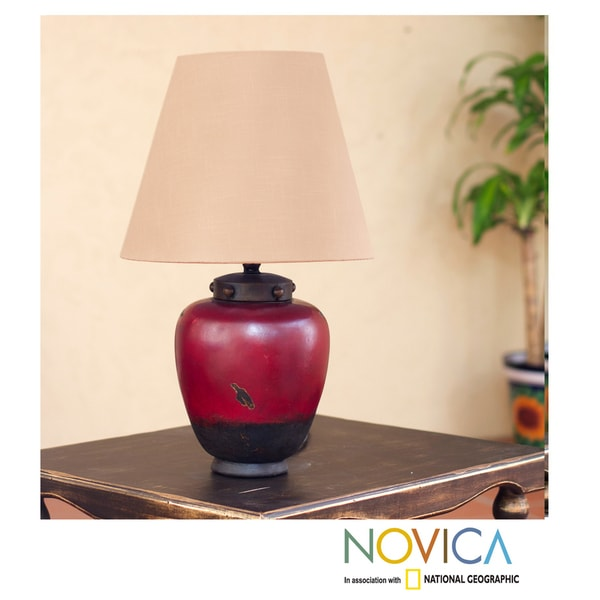 Handcrafted Ceramic 'Vase of Light' Table Lamp (Mexico)