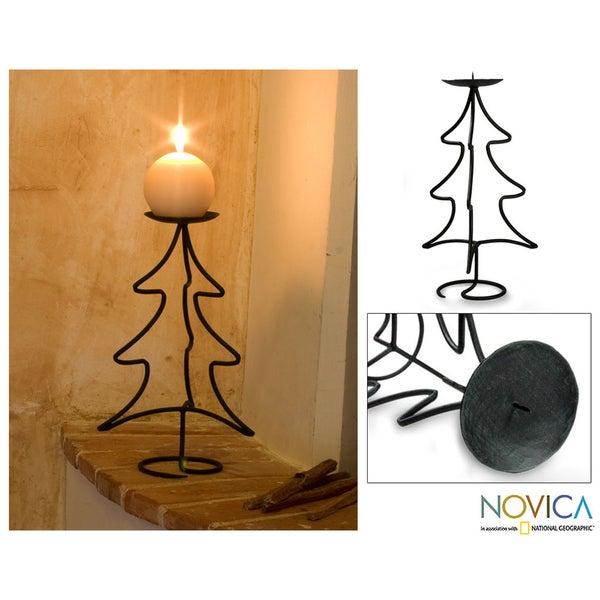 Iron 'Light of Christmas' Candleholder (Guatemala)
