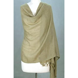 Angora Wool 'Earth Meditation' Shawl (India)