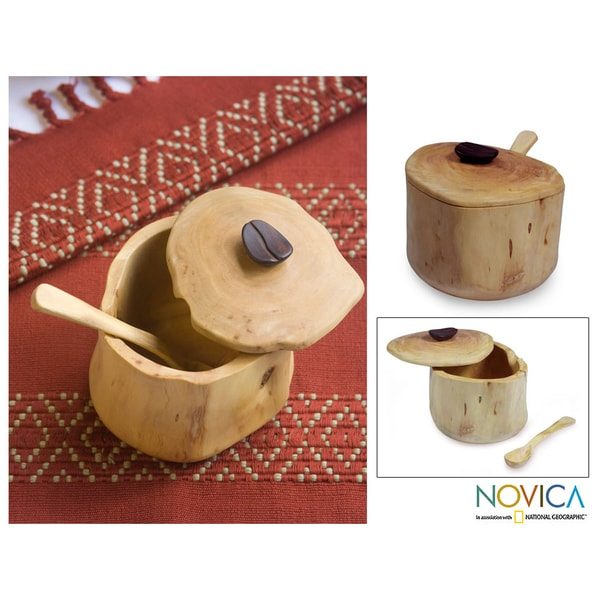 Hormigo Wood 'Sweet Acatenango' Sugar Bowl (Guatemala)