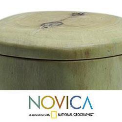 Set of 2 Granadillo Wood 'Coban' Salt and Pepper Bowls (Guatemala)